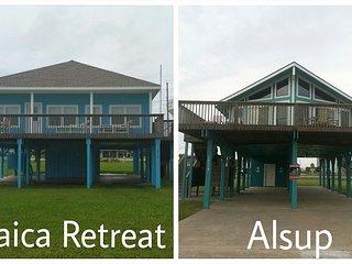 2 Beachhouses- total of 6 BR/ 4 BA- Sleeps 18 - Galveston vacation rentals
