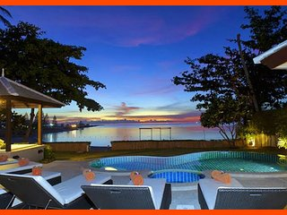 Villa 15  - Beach front (2 BR option) private pool and sunset views - Plai Laem vacation rentals