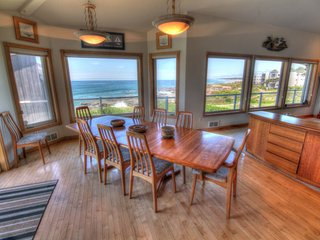 Ocean Front Luxury Home with Hot Tub and Game Room! Free Night! - Yachats vacation rentals