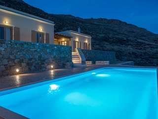 Syros beautiful sea view villa Blue Line with swimming pool - Finikas vacation rentals