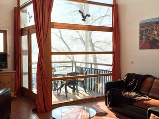 Lipno Marina,Winter Wonderland PROMO,Lakefront Penthouse 2 story,3 bdrm,1.5 bath - Lipno nad Vltavou vacation rentals