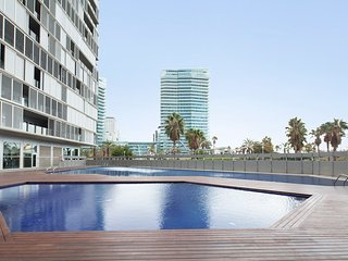 Modern beachfront apartment with a swimming pool and a large terrace - B237 - Barcelona vacation rentals