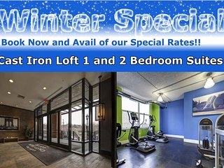 New York Area Cast Iron Lofts 1 Bedroom Suite by Pelican Residences - Jersey City vacation rentals