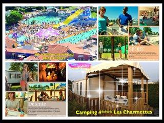 Mobile home neuf clim, terrasse couverte, camping 4* les Charmettes à La Palmyre - La Palmyre-Les Mathes vacation rentals