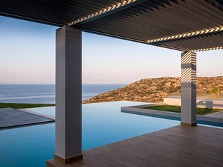 Brand new luxurious seafront Villa Indigo Blue with large pool and amazing views - Stavros vacation rentals