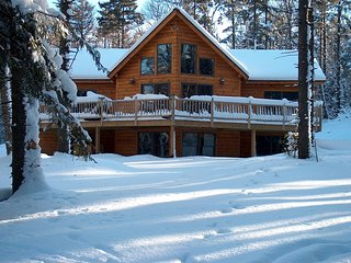 Log Home in Winter Wonderland, Ski, Splash or just Get Away - Pet Friendly - Montgomery Center vacation rentals