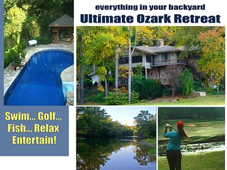 Golf Course Riverfront Retreat  1 Dowell Lane WOW! - Cherokee Village vacation rentals