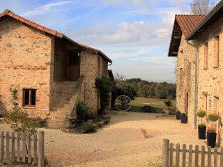 Stunning, spacious 2 bedroom barn conversion,  rural location, amazing views - Vayres vacation rentals