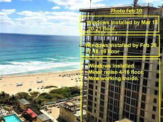 CONSTRUCTION RATES to Feb 28, 17-21floor, Marriott Resort Spa-OwnerCondos - Singer Island vacation rentals