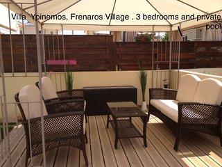 Gr8padz 3 bedroom detached villa with private pool - Frenaros vacation rentals