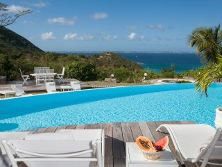 CAYE BLANCHE... elegant, spacious 7BR villa with sea views - Anse Marcel vacation rentals