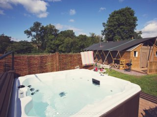 Seven Hills Hideaway; Luxury Glamping - 3 large safari tents with hot tub - Abergavenny vacation rentals