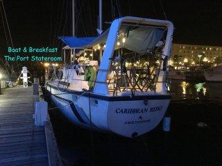 The Port Cabin - Boat & Breakfast, downtown marina, bars, restaurants, nightlife - Oranjestad vacation rentals