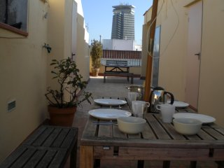 PENTHOUSE, LA RAMBLA, LIFT, A/C, TERRACE, CITY CENTER, SUNSHINE, CALM, METRO L3 - Barcelona vacation rentals