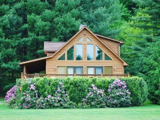 Feb-March $50 OFF 3-6 NT-Appalachian Mist_River Front_ Log Cabin_Hot - West Jefferson vacation rentals