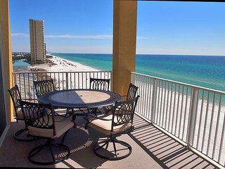 Stunning 3 Bedroom, 7th Floor, Corner Unit with 2 Gulf-Front Masters w/ View! - Panama City Beach vacation rentals