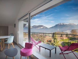 Appartement Mont Blanc avec terrasse et magnifique vue sur lac et montganes - Sevrier vacation rentals