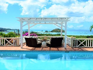 Panoramic Sea Views, Pool, Gated Paradise: AntiguaBella. Overlooks Jolly Harbour - Jennings vacation rentals