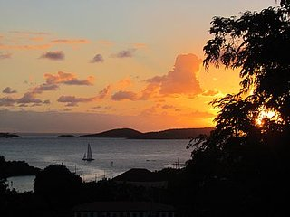 Romantic, Private, Quiet, Walk to Town, Lovely Views from the Breezy Verandah - Cruz Bay vacation rentals