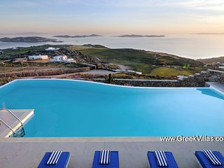 Mykonos Gv - Villa Entine  a gracious pool villa that enjoys superb seaviews  7 - Mykonos vacation rentals