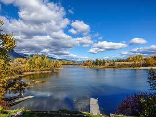 Lakefront home with shared dock, stunning views, large deck - close to town! - Sandpoint vacation rentals