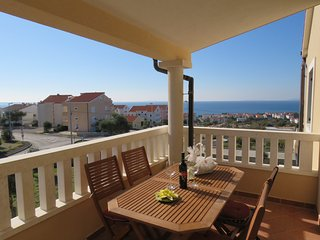 Apartment Diana for 4 with excelent sea view - Novalja vacation rentals
