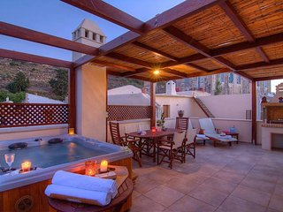 Villa Euphoria,private roof garden jacuzzi with sea view! - Maroulas vacation rentals