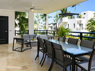 Fully equipped three-bedroom condo in beachfront complex (K6) - Las Terrenas vacation rentals