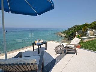 SEAHORSE BEACH VILLA -   WATERFRONT VILLA,  WITH  POOL & STEPS DOWN TO THE BEACH - Corfu vacation rentals