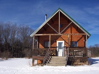 Mountain Queen Log Cabin on 60 acres adjacent Hammond Hill State Forest Trails - Freeville vacation rentals
