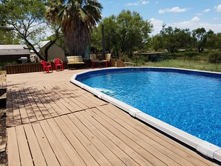 Country get-a-way on 33 acre ranch with a pool - Jourdanton vacation rentals