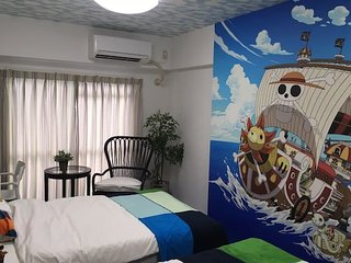 Stay in ONE PIECE's room!Close to Himeji sta!#11T1 - Himeji vacation rentals