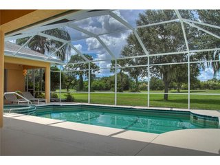 Villa with golf course view with solar heated pool - Lakewood Ranch vacation rentals
