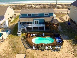 Tiki House, Private pool, hot tub, dock, tiki bar - North Topsail Beach vacation rentals