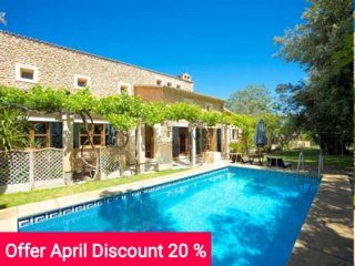 Last Minute 20% April 2017. Beautiful villa in the heart of Mallorca with - Inca vacation rentals