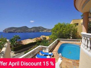 Last Minute 15% April 2017. Villa in second sea line for 8 people. Camp de Mar. - Camp De Mar vacation rentals