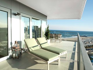 Sea and city view terrace apartment with private terrace - B502 - Barcelona vacation rentals