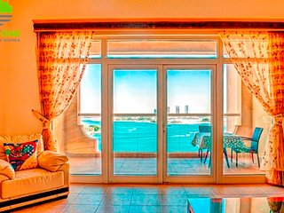 Furnished One BR Shoreline Al-Khudrawi 6- Palm Jumeirah Beach View - Dubai vacation rentals