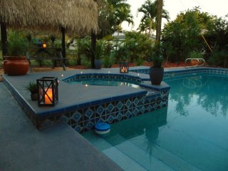 Beach Cottage! New Listing,Pool,Spa,Cabana,Hanging Swing,Privacy, Walk to Beach - Naples Park vacation rentals