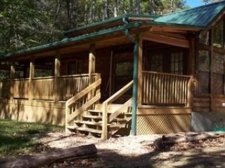Creekbend romantic honeymoon cabin on the creek with hot tub fireplace waterfall - Hot Springs vacation rentals