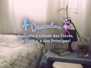 Quarto para 2 em charmoso apartamento no centro de Joinville - Joinville vacation rentals