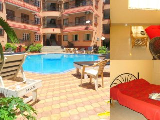 40) 1 Bedroom Apartment Kyle Gardens Calangute/Baga Sleeps 2 - 4 - Calangute vacation rentals