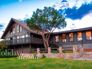 HUGE 7 bedroom cabin with guest house! Views, tennis court, game rooms, private! - Payson vacation rentals
