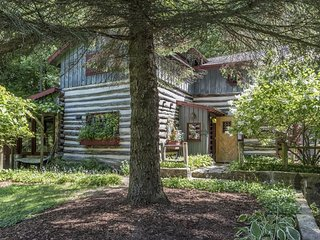 Log Cabin adjacent to State Park - neighboring Erin Hills Golf Course - Hubertus vacation rentals