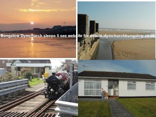 Detached Bungalow 200 yds from sea wall & sandy beach sleeps 5 in three bedrooms - Dymchurch vacation rentals