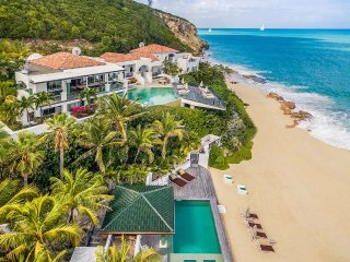 Luxury 7 bedroom St. Martin villa. On beautiful Baie Rouge Beach! - Baie Rouge vacation rentals
