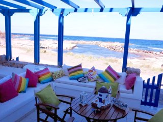 Colourful house right on the beach - Monolithos vacation rentals