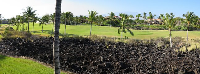 View from the condo - RELAXING, COMFORTABLE ISLAND HOME ON THE GOLF COURSE-WCV3303 - Waikoloa - rentals