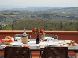 Chianti Tuscany Spectacular Picture Postcard Views-Visit Wineries-Casa Rossa - San Casciano in Val di Pesa vacation rentals