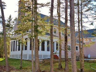 Outstanding waterfront house- screen porch, granite fireplace, gourmet kitchen. - Rockland vacation rentals